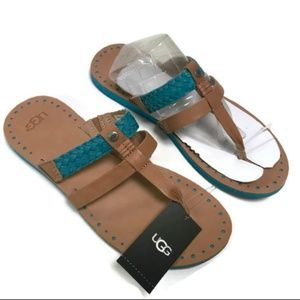 27e1d86760e UGG WOMENS W Audra Sandals Turquise Size 8 NWT